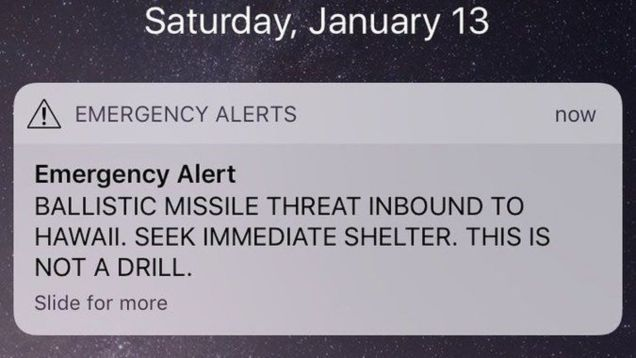 Confirmed: Hawaii's False Missile Alert Scared the Shit Out of Everyone