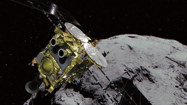 Japanese Spacecraft Hayabusa2 Touches Down on Asteroid Ryugu
