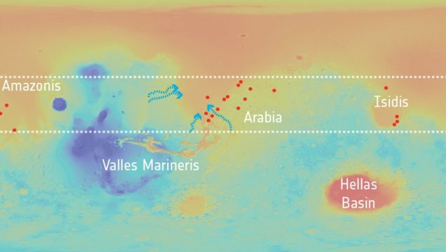 Spacecraft Spots Evidence That Groundwater Once Saturated Mars