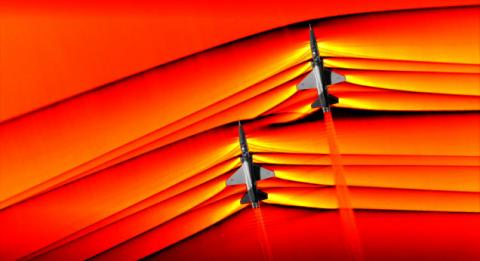 NASA Captures First-Ever Images of Intersecting Shockwaves From Two Supersonic Jets