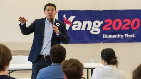 Giant Space Mirrors, Engineered Glaciers: Presidential Candidate Andrew Yang Shares His Wildest Plans For Fighting Climate Change