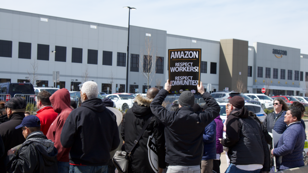Labor Coalition Demands Amazon Reinstate Fired Employee Who Fought For Unionization