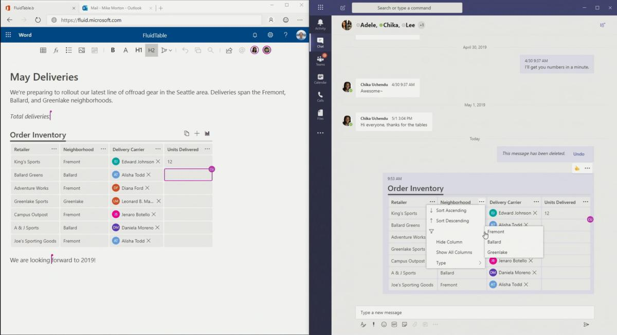 Microsoft Launches 'Fluid Framework' to Transform The Traditional Office Document