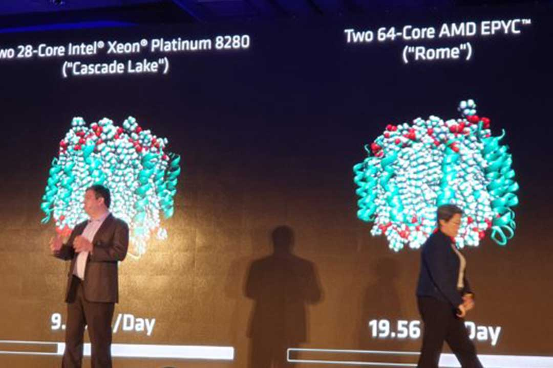 AMD Demos EPYC ROME Outperforming Intel Cascade Lake by 2X at Computex 2019