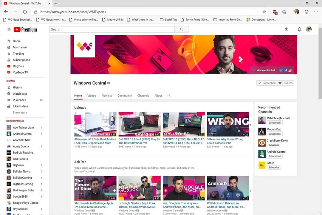 Google Now Reverts YouTube to Older Design with Edge Insider Builds