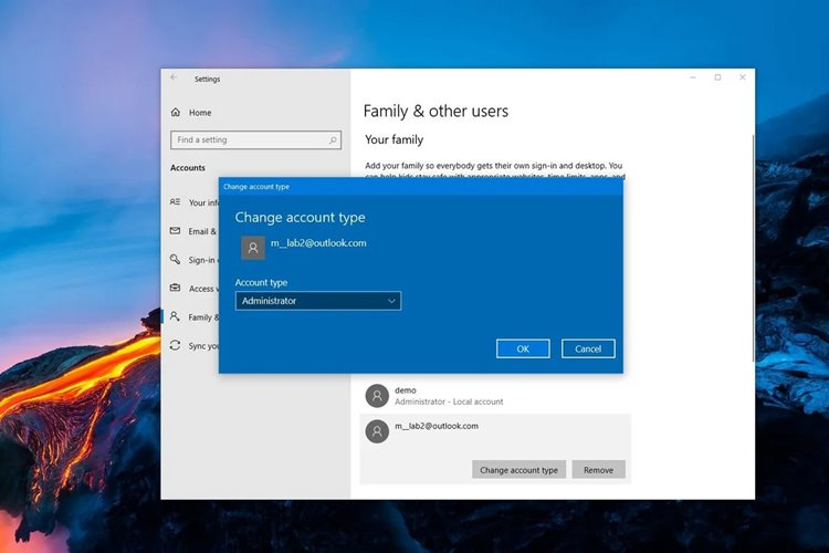 How to change a Windows 10 user account type and why you might want to
