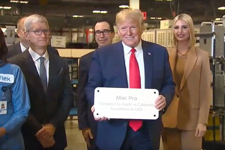 Trump suggests new 'tax' on companies manufacturing outside the U.S., including Apple